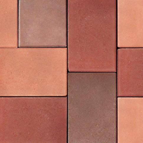 Pavaj rezidential Semmelrock, Nardo, dreptunghi, brun roscat, 200 x 100 x 40 mm
