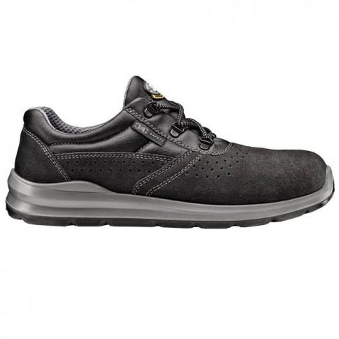 Pantofi de protectie Silver Fob, cu bombeu metalic, piele, gri, S1 SRC, marimea 44