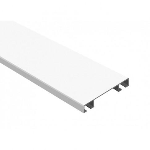 Sina perdea si draperie, tavan, 2 canale, LM, aluminiu, alb, L 200 cm