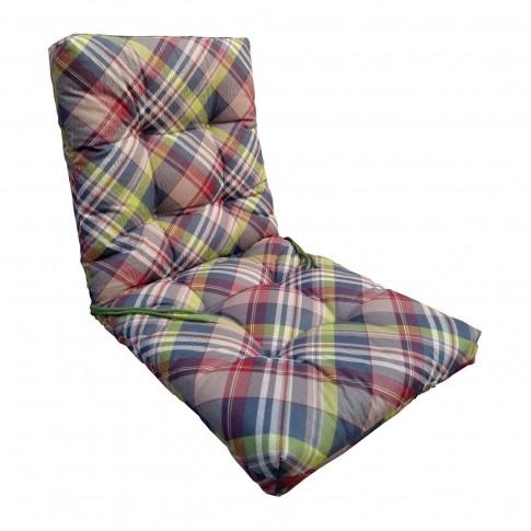 Perna pentru scaun Soft, bumbac + PES, cu umplutura vata volum, 86 x 40 x 6 cm