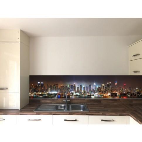 Panou decorativ bucatarie Splashback, compozit, luminescent, SPB 015, urban, 4000 x 600 x 3 mm