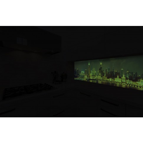 Panou decorativ bucatarie Splashback, compozit, luminescent, SPB 018, urban, 3000 x 600 x 3 mm