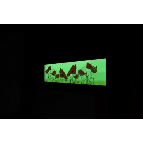 Panou decorativ bucatarie Splashback, compozit, luminescent, SPB 035, floral, 2200 x 600 x 3 mm