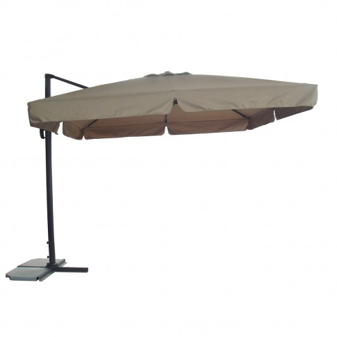 Umbrela soare, pentru terasa SPH-00008C, patrata, structura metal, crem, 300 x 300 cm
