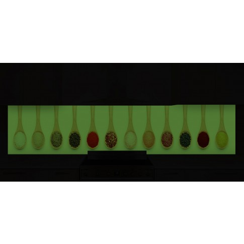 Panou decorativ bucatarie Splashback, compozit, luminescent, SPB 070, condimente, 4000 x 600 x 3 mm