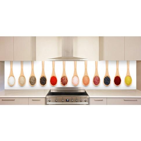 Panou decorativ bucatarie Splashback, compozit, luminescent, SPB 070, condimente, 4000 x 750 x 3 mm