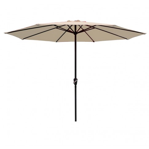 Umbrela soare pentru terasa Ecru SPU-00026 rotunda structura metal crem D 300 cm