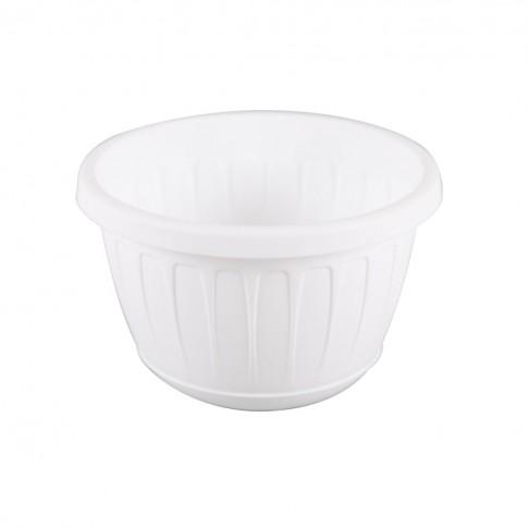 Ghiveci din plastic Stella, suspendat, alb, D 22.5 cm