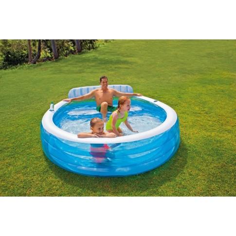 Piscina gonflabila, Intex Swim Center 57190NP, 224 x 216 x 76 cm