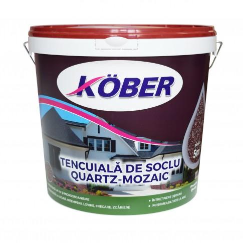 Tencuiala decorativa mozaicata pentru soclu, Kober C - 92, interior / exterior, 25 kg