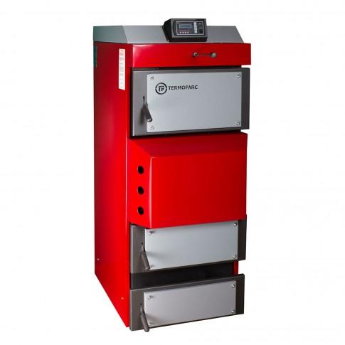 Cazan termic pe lemne, brichete Termofarc FI-GS 60, cu gazeificare, din otel, 104.4 kW, cu accesorii
