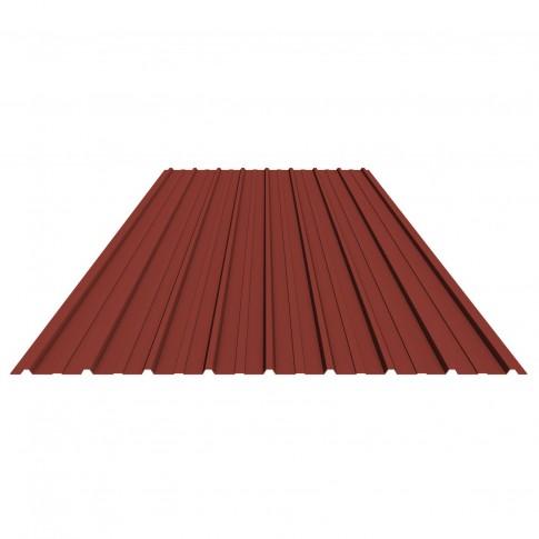 Tabla zincata cutata vopsita, rosu (RAL 3011), H 10 0.25 x 910 x 2000 mm