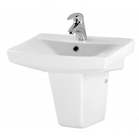 Lavoar Cersanit Carina K31 - 004, alb, dreptunghiular, 50 cm