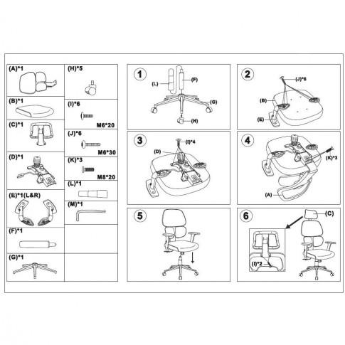 Scaun birou directorial Tikitere, rotativ, mesh, negru