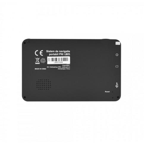 Sistem de navigatie GPS PNI L805, diagonala 5 inch, LCD, 8 GB, 800 Mhz, 256 MB