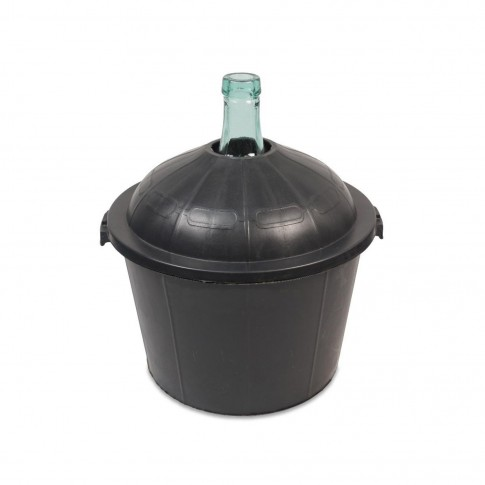 Damigeana sticla cu invelis protector din plastic, 50 litri