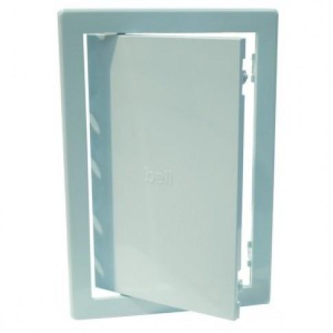 Usita vizitare, pentru instalatiile sanitare, Bellplast, albastru deschis, 20 x 20 cm