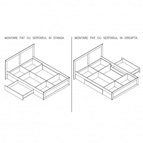 Dormitor complet Adam, stejar bardolino + sonoma dark, 4 piese, 12C