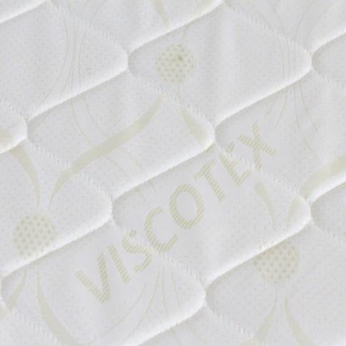 Saltea pat Viscotex superortopedica, 1 persoana, cu spuma poliuretanica, cu arcuri, 90 x 200 cm