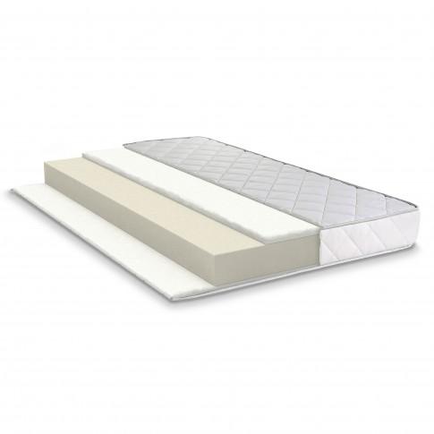 Saltea pat Bedora Vitality + topper Lavanda Therapy, ortopedica, 160 x 200 cm, cu spuma poliuretanica + memory + latex, fara arcuri
