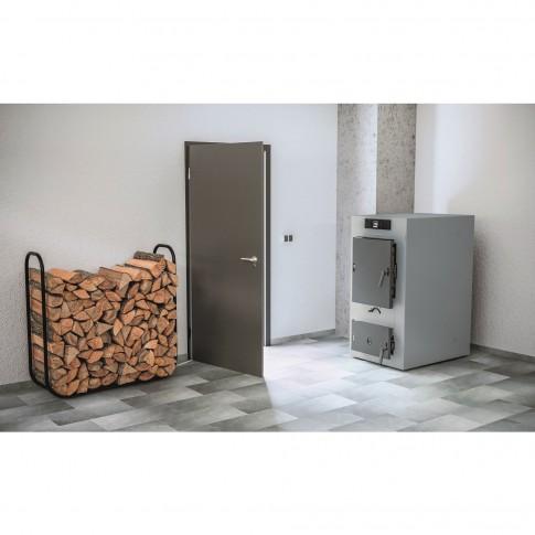 Cazan termic pe lemne Viessmann Vitoligno 100-S, cu gazeificare, din otel, 30 kW