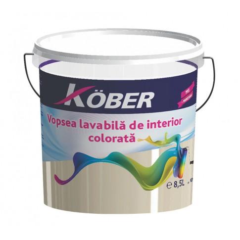 Vopsea lavabila interior, Kober, caramel, 8.5 l