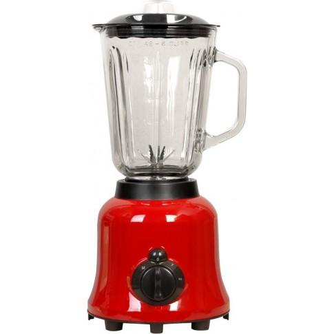 Blender Meister HRH-916G, 600 W, 2 trepte de viteza, 1.5 l, functie Pulse, bol gradat sticla, negru + rosu