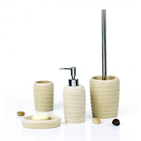 Pahar baie pentru igiena personala, Wave 820082S-2, polistone, crem, 10.5 x 7.5 cm