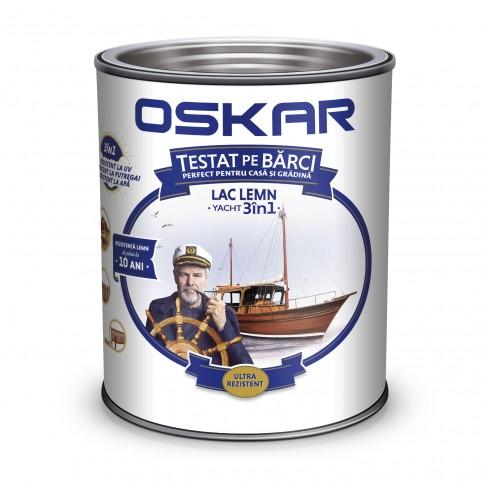 Lac pentru lemn Oskar Yacht, nuc inchis, interior / exterior, 2.5 L