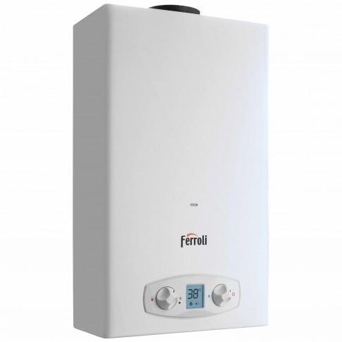 Instant apa calda, GPL, Ferroli Zefiro Eco 11, 21.7 kW, 11 l/min, display LCD, 595 x 295 x 195 mm
