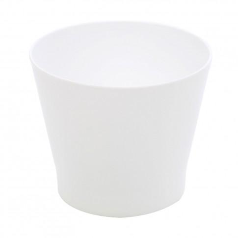 Ghiveci din plastic Zinnia, alb D 14.5 cm