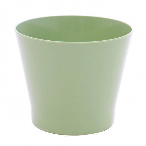 Ghiveci din plastic Zinnia, verde D 9.5 cm