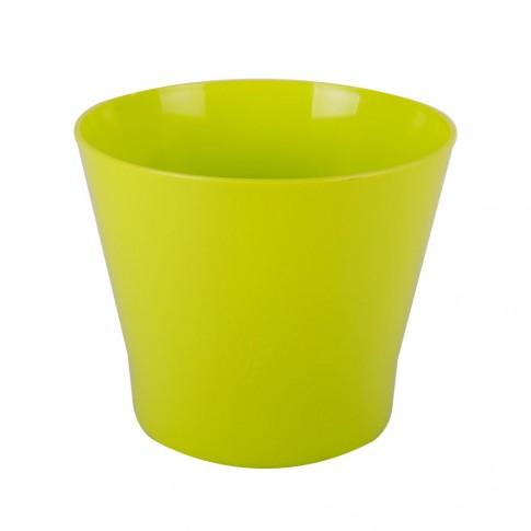 Ghiveci din plastic Zinnia, lime D 9.5 cm
