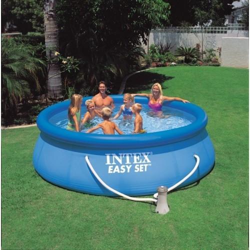 Dedeman piscina gonflabila intex easy set 28142np cu pompa for Piscina intex easy set