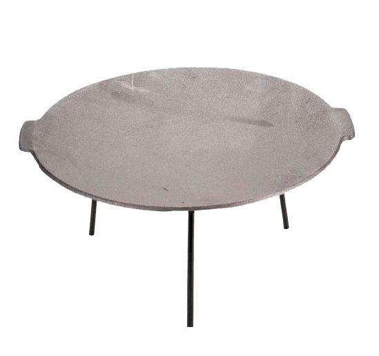 Disc gratar, pentru picnic Landmann Perfect Home, fonta, D 45 cm, cu 3 picioare