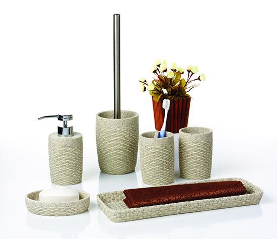 Pahar baie pentru igiena personala, Twist 820071S-2, polistone, crem, 10.5 x 7 cm
