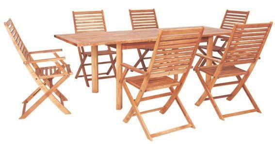 Dedeman set masa extensibila si 6 scaune pliante maldive for Masa cu scaune dedeman