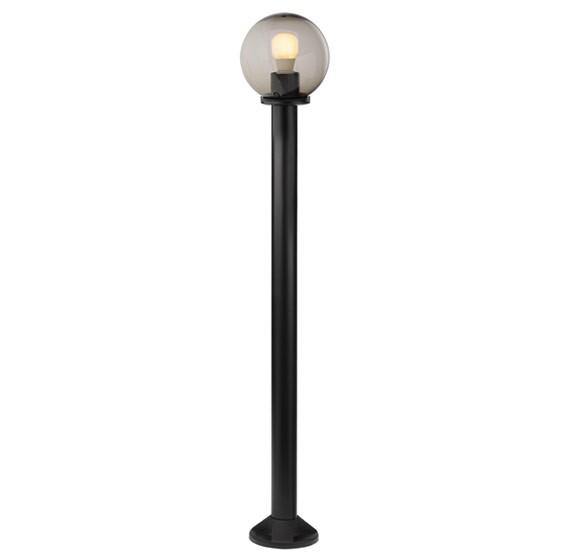 Stalp de iluminat ornamental Sfera 1 9766, 120 cm, fumuriu