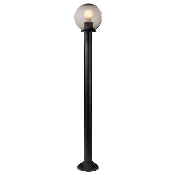 Stalp de iluminat ornamental Sfera 2 9776, 125 cm, fumuriu