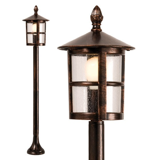 Stalp de iluminat ornamental Bari 9842, 1 x E27, 115 cm