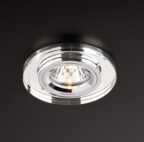 Spot incastrat CR 18 CH 70220, GU5.3, cristal