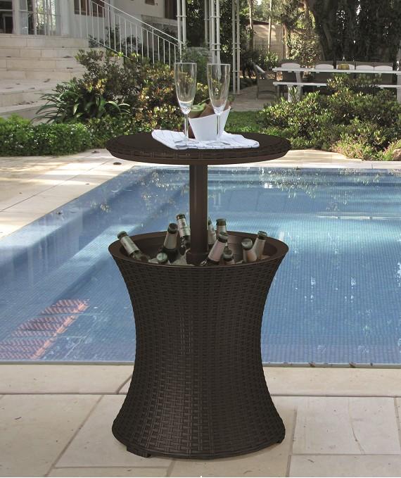 Masa cu recipient pentru racire Cool Bar, plastic, D 49.5 cm