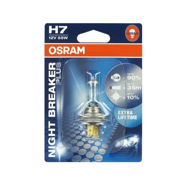 Bec auto Osram H7 Night Breaker, 55 W, 12 V