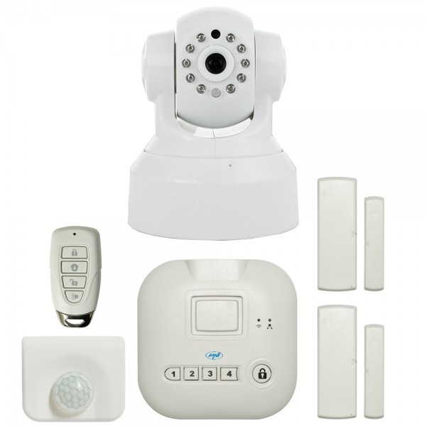 Kit casa inteligenta PNI SmartHome SM400 + camera video SM460 sistem de alarma si monitorizare video prin internet