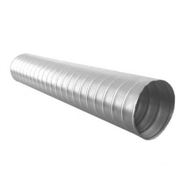 Tub flexibil pentru sisteme de incalzire si ventilare, aluminiu, alba, D 100 mm