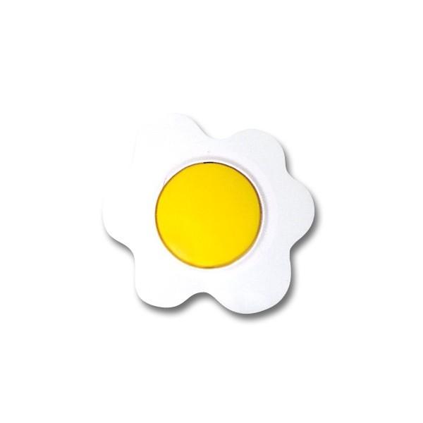 Intrerupator simplu Metalka-Majur Happy G/B 1651001, incastrat, rama inclusa, ou, galben cu alb