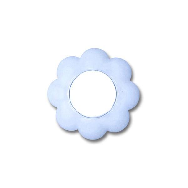 Intrerupator simplu Metalka-Majur Happy 1636001, incastrat, rama inclusa, floare, alb cu bleu