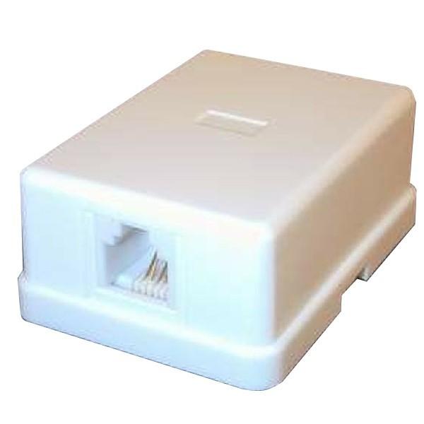 Priza modulara simpla telefon 4/6 (rj11) TEL-0009 -WHITE