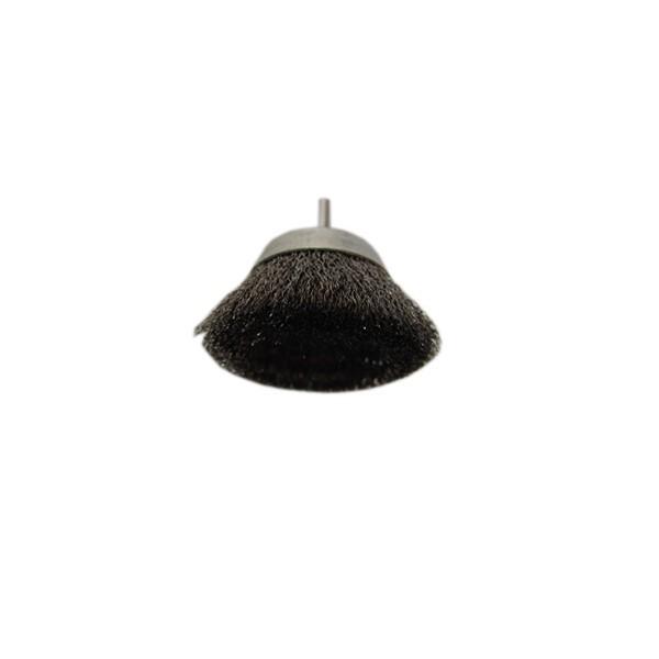 Perie cupa cu tija D75 5222V pentru metale, piatra, lemn