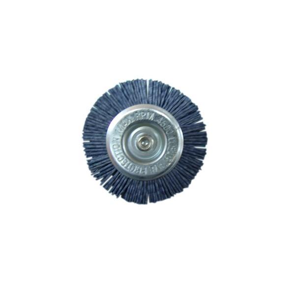 Perie circulara, cu tija, pentru aluminiu / inox / metale moi, Peromex 5133G, diametru 75 mm